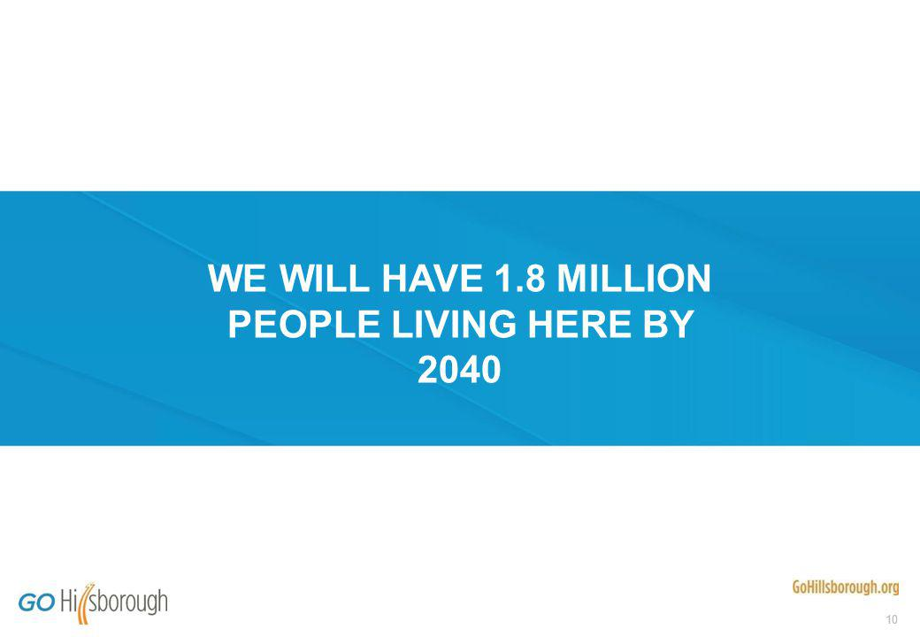 10 WE WILL HAVE 1.8 MILLION PEOPLE LIVING HERE BY 2040