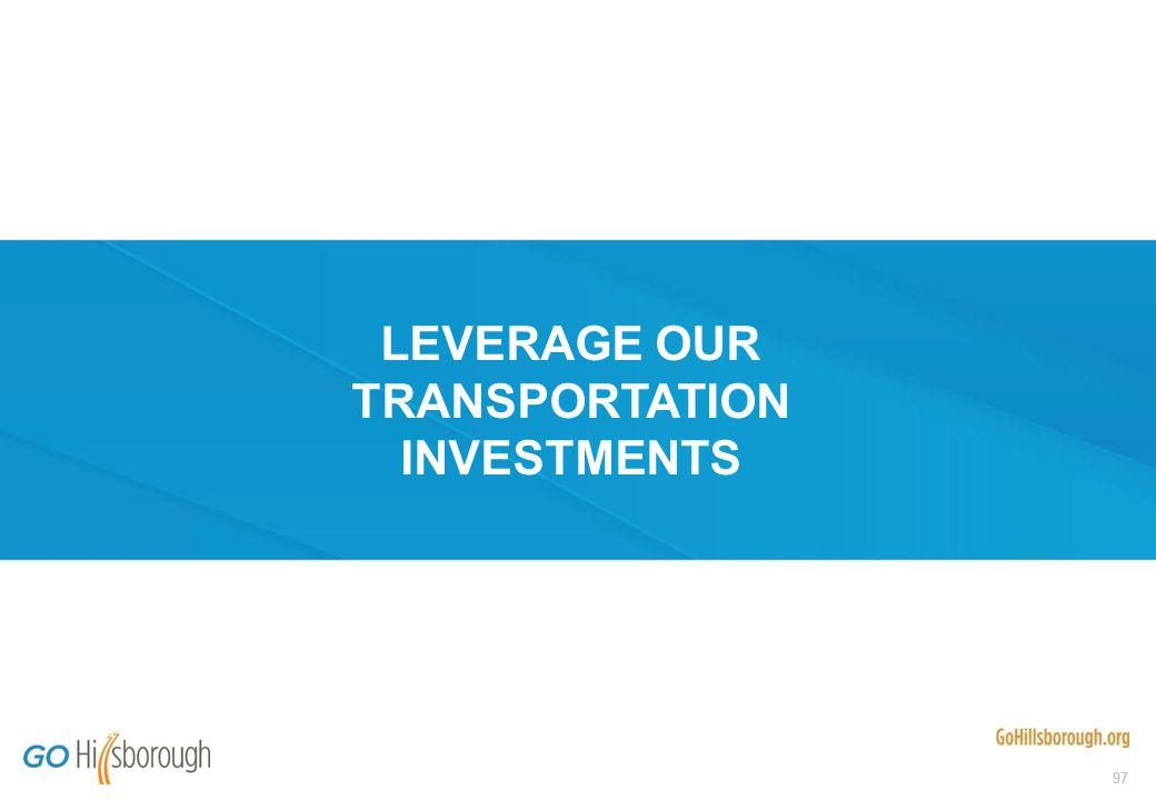 97 LEVERAGE OUR TRANSPORTATION INVESTMENTS