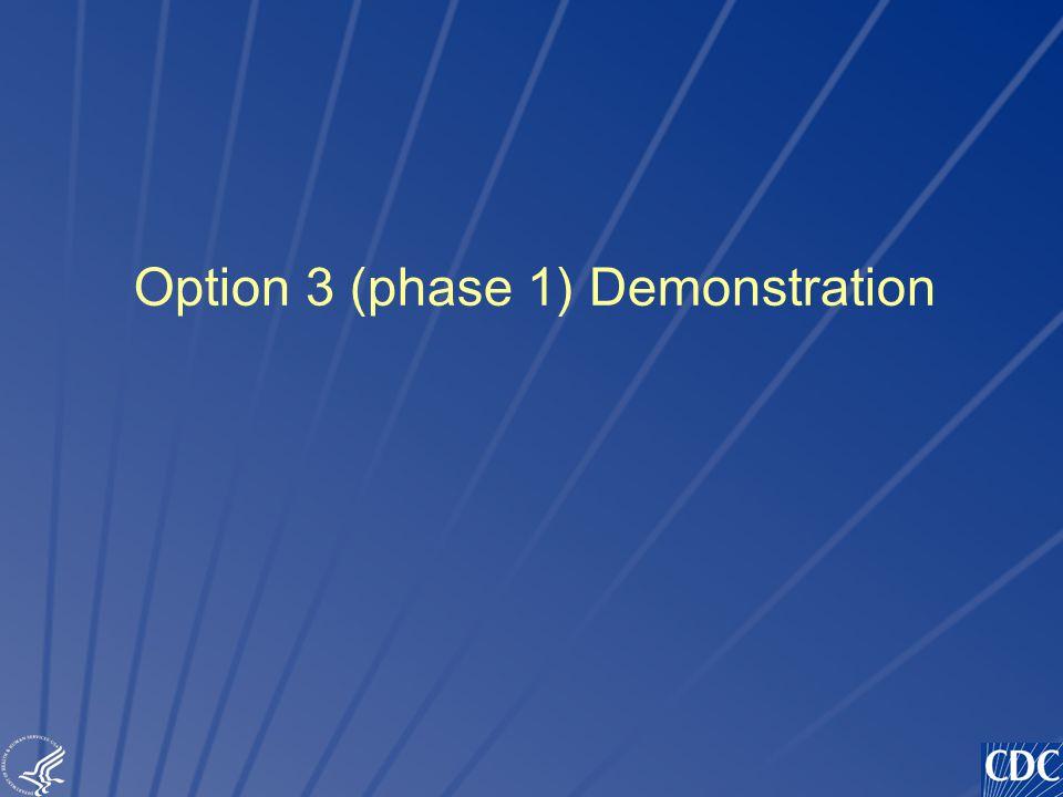TM Option 3 (phase 1) Demonstration