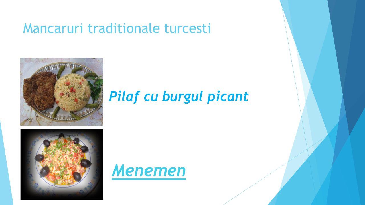 Mancaruri traditionale turcesti Pilaf cu burgul picant Menemen