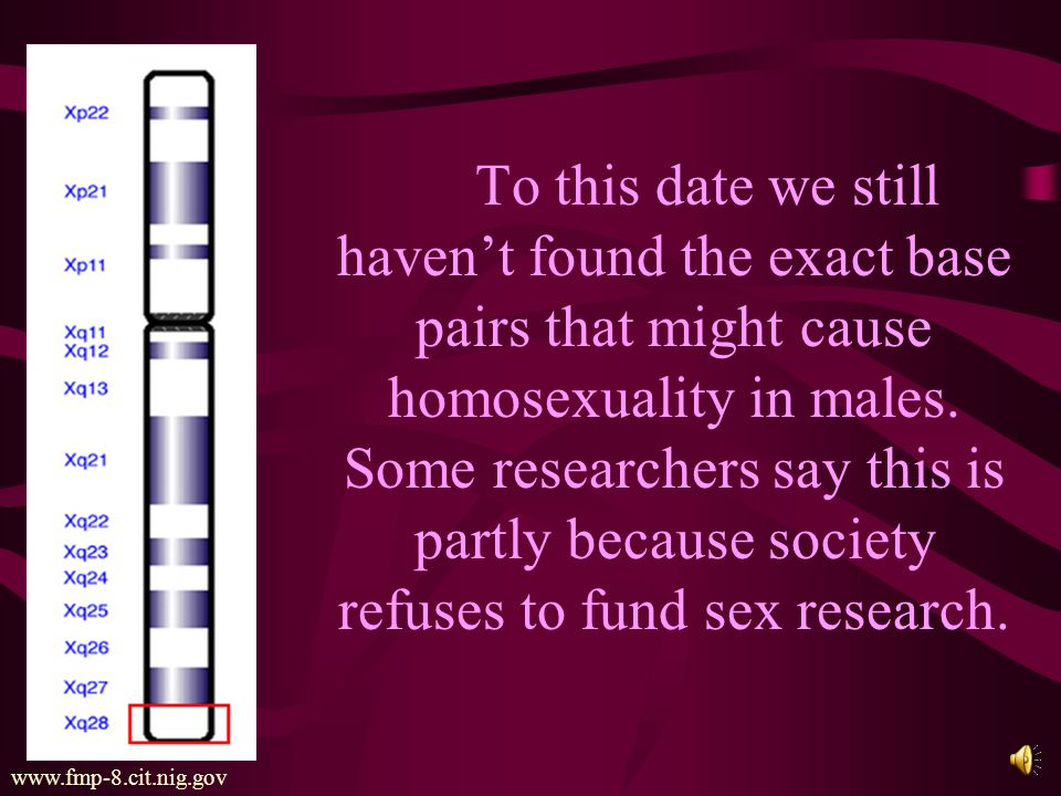 Another geneticist, Dean Hamer published a study claiming to prove genetically that people are born gay.
