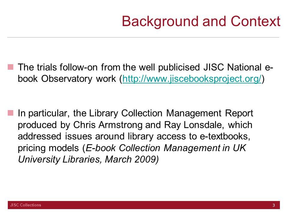 JISC Collections 14 Bookshops? Sales & Marketing?
