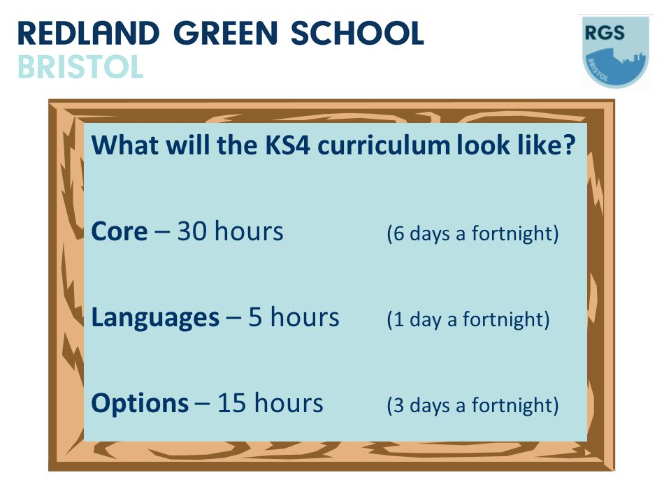 What will the KS4 curriculum look like.