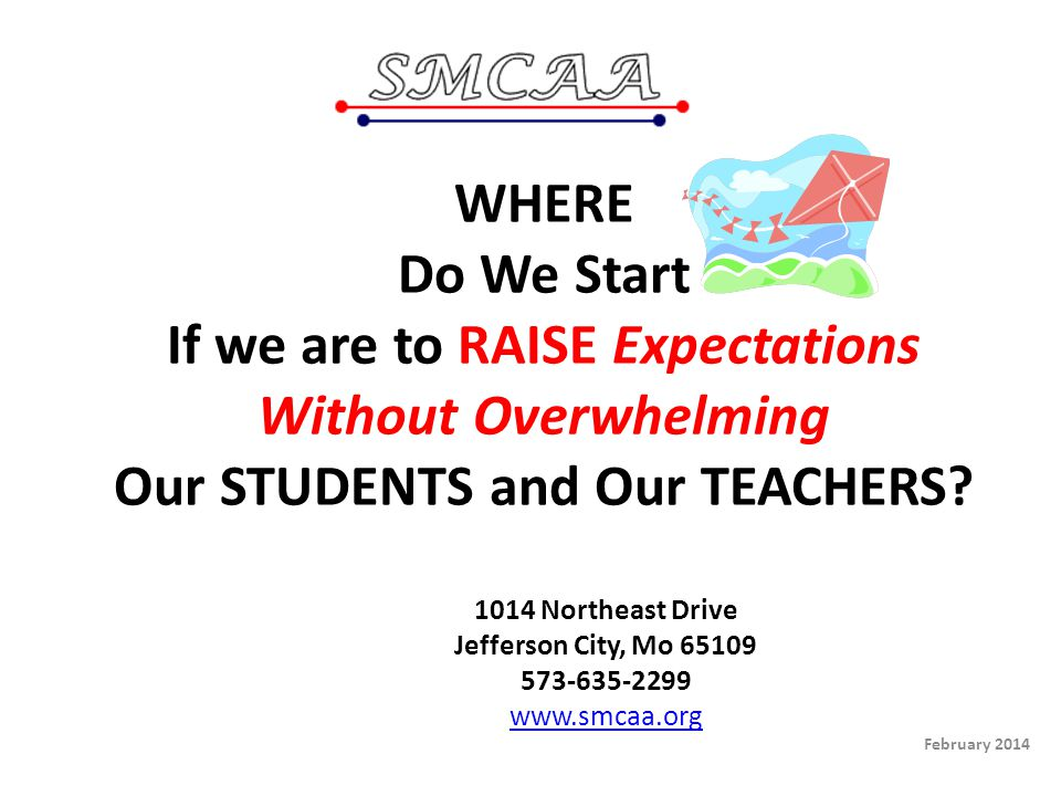 WHERE Do We Start If we are to RAISE Expectations Without Overwhelming Our STUDENTS and Our TEACHERS.