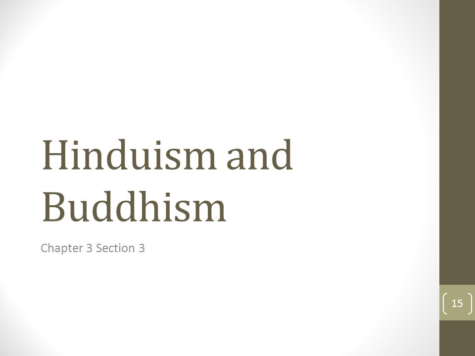 Hinduism and Buddhism Chapter 3 Section 3 15