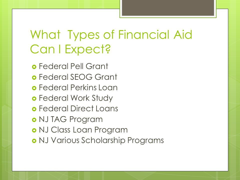 What Types of Financial Aid Can I Expect.