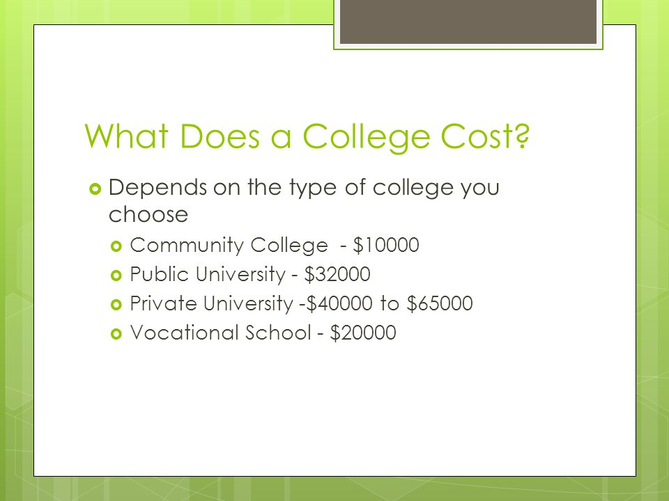 What Does a College Cost.