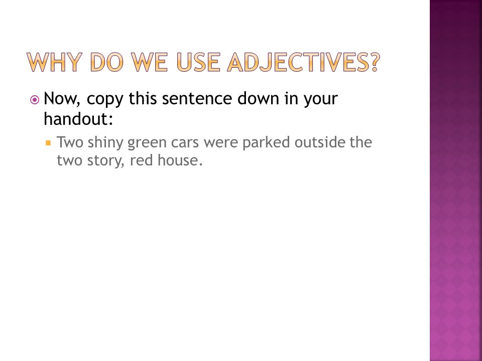  Which sentence was easier to create a more accurate picture.