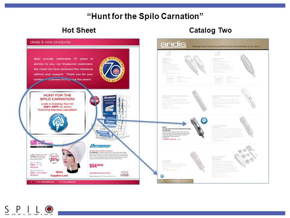 Hunt for the Spilo Carnation Hot SheetCatalog Two