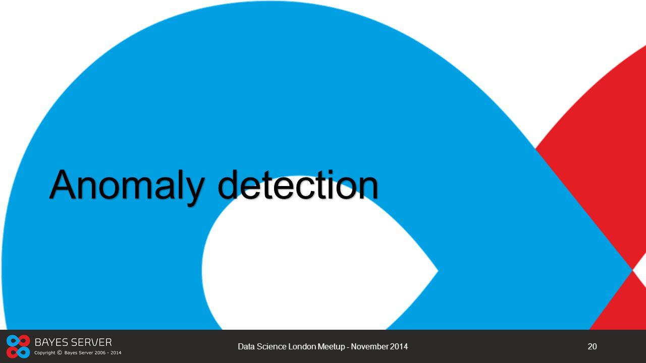 Anomaly detection Data Science London Meetup - November 201420