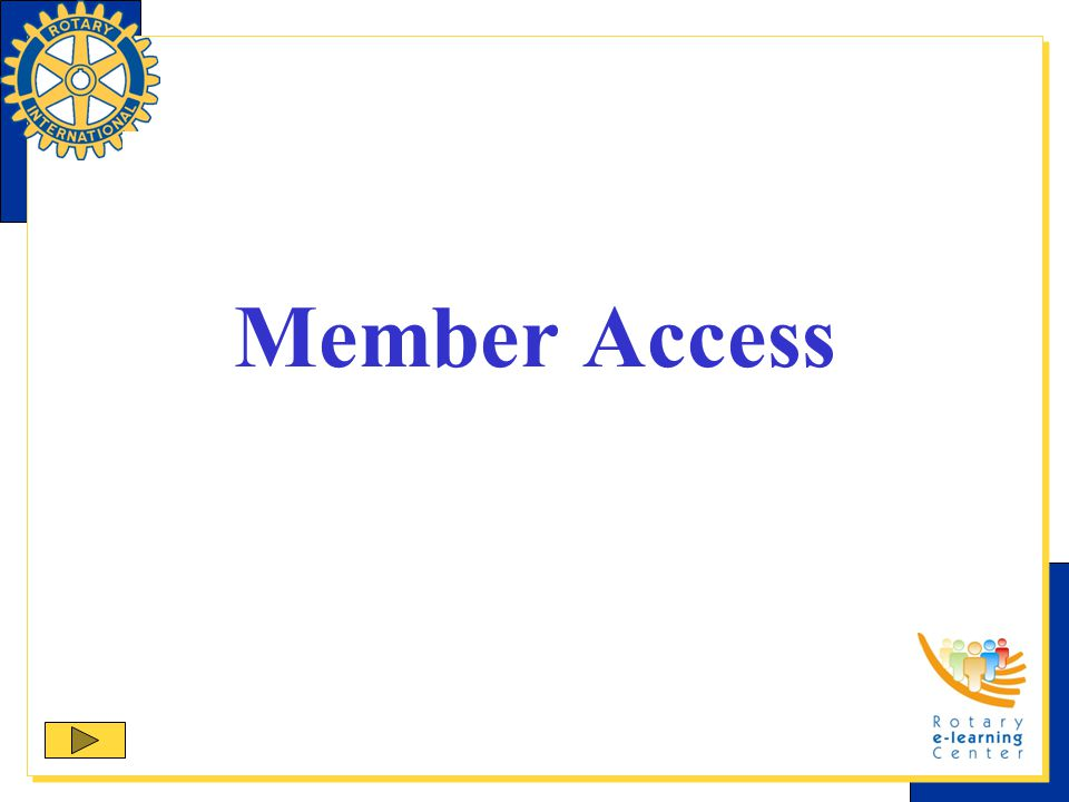 Main Screen Club presidents and secretaries have additional navigation options.