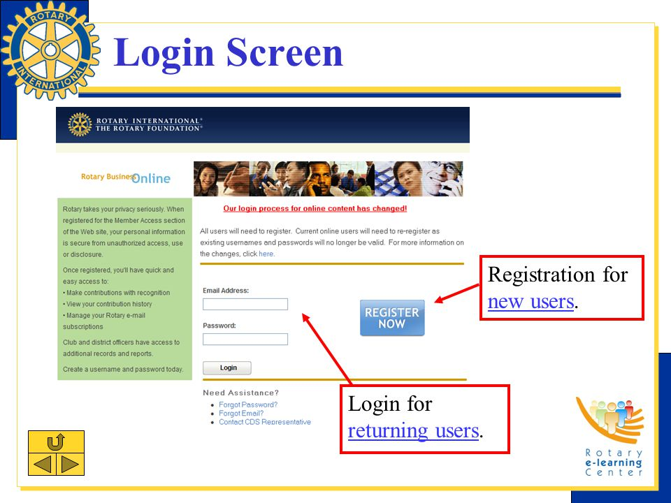 Registration: Step 1 Enter and confirm email address. Press submit.