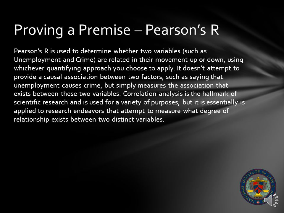 Proving a Premise – Pearson's R