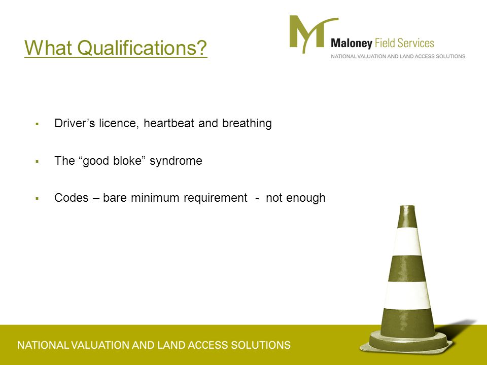 What Qualifications.