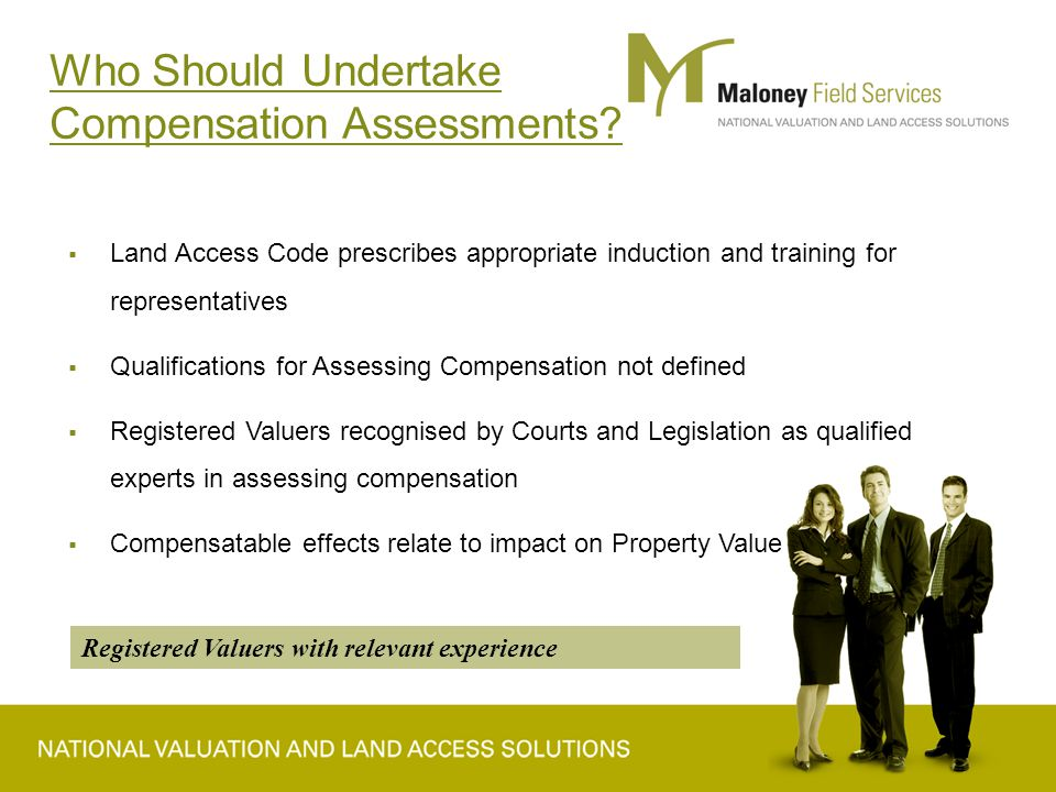 Who Should Undertake Compensation Assessments.