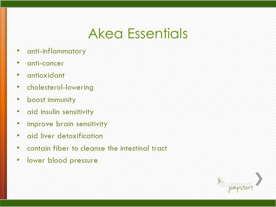 Akea Essentials anti-inflammatory anti-cancer antioxidant cholesterol-lowering boost immunity aid insulin sensitivity improve brain sensitivity aid liver detoxification contain fiber to cleanse the intestinal tract lower blood pressure