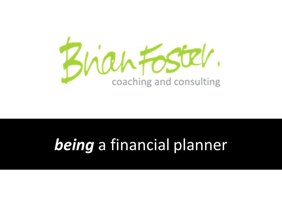 being a financial planner