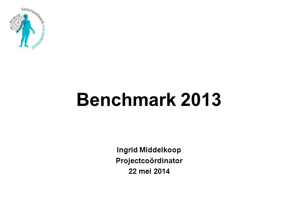 Benchmark 2013 Ingrid Middelkoop Projectcoördinator 22 mei 2014