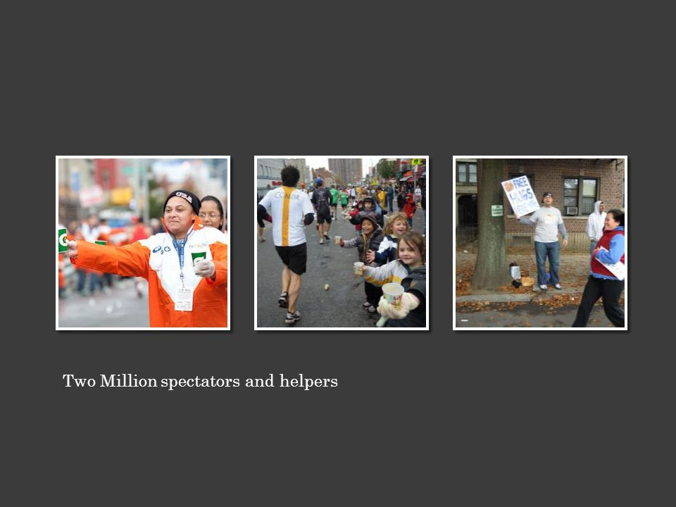Two Million spectators and helpers