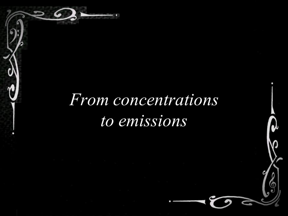 From concentrations to emissions