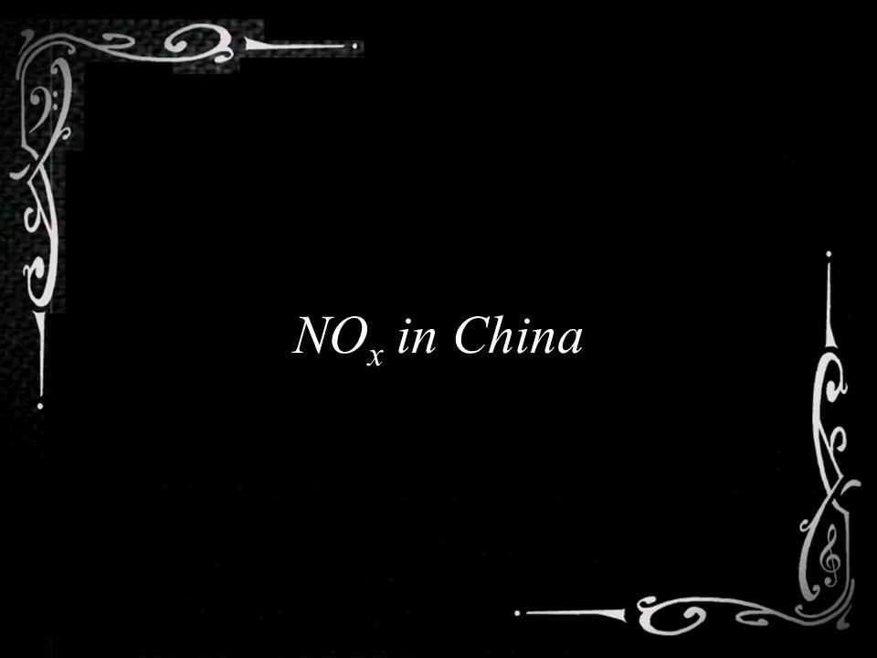 NO x in China