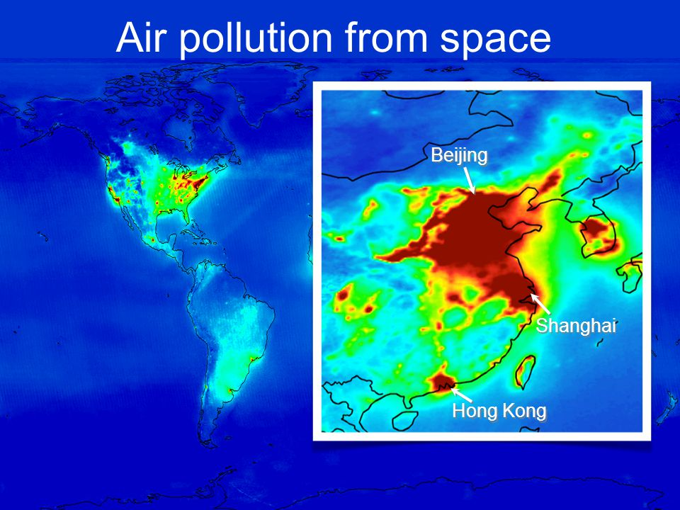 Air pollution from space Shanghai Beijing Hong Kong