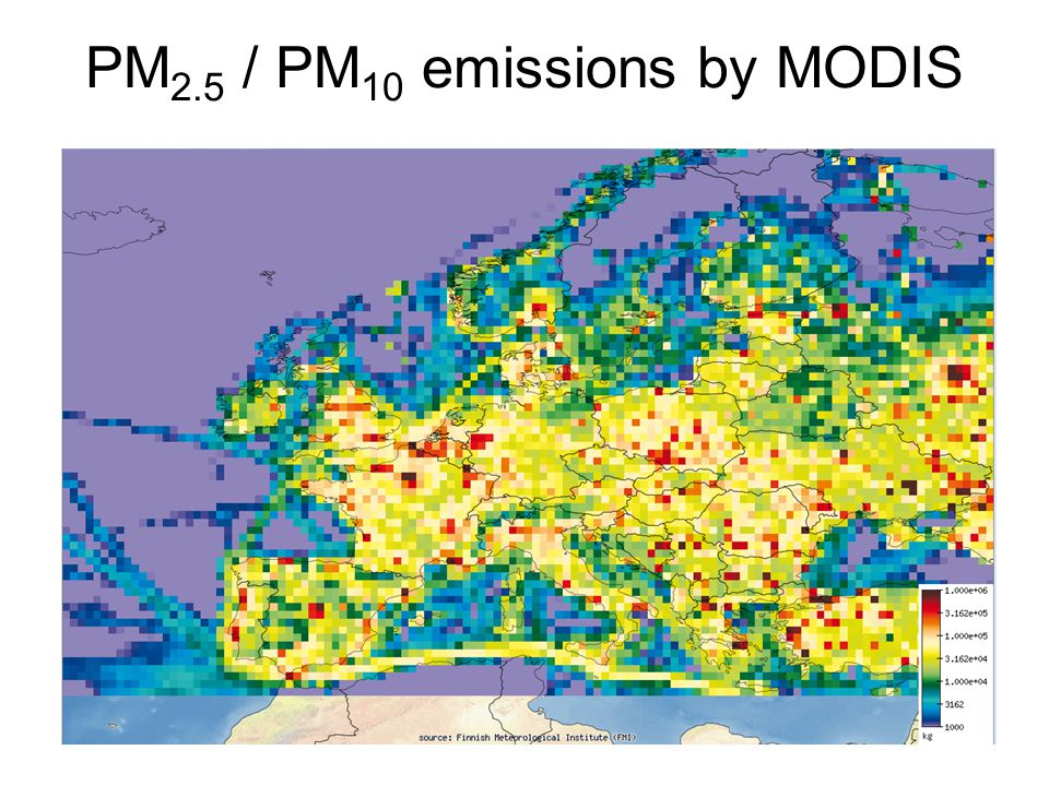 PM 2.5 / PM 10 emissions by MODIS