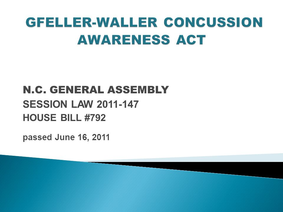 N.C. GENERAL ASSEMBLY SESSION LAW HOUSE BILL #792 passed June 16, 2011