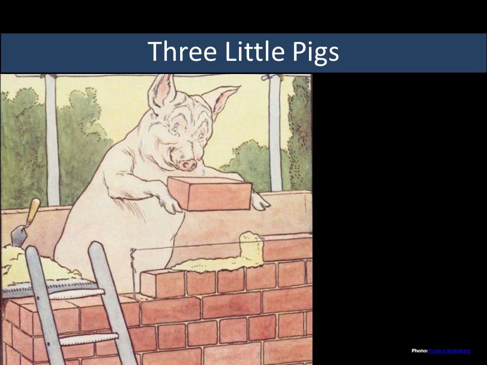 Three Little Pigs Photo: Project GutenbergProject Gutenberg