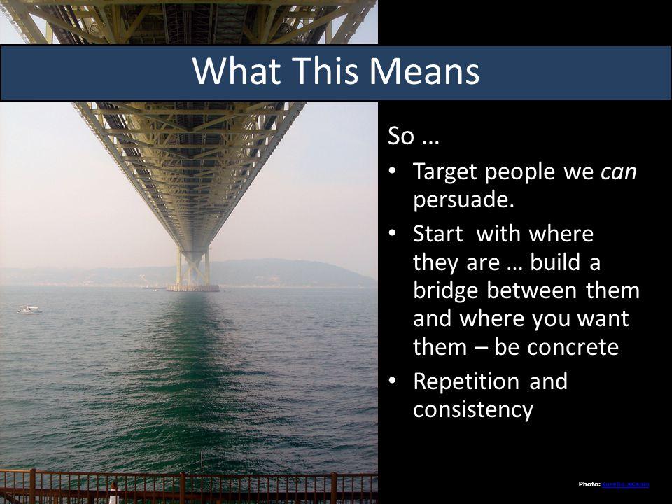 So … Target people we can persuade.