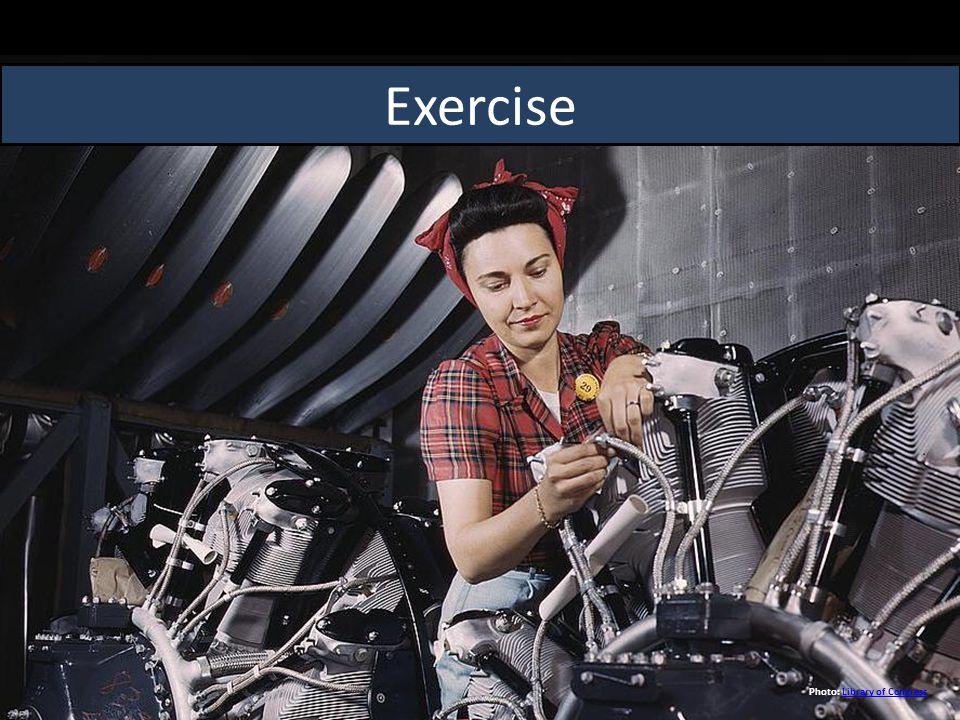 Exercise Photo: Library of CongressLibrary of Congress