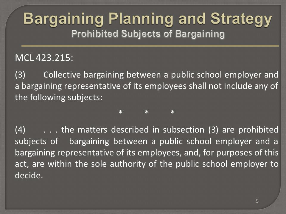 Collective bargaining as a process requires both parties to confer in good faith - - to listen to each other.