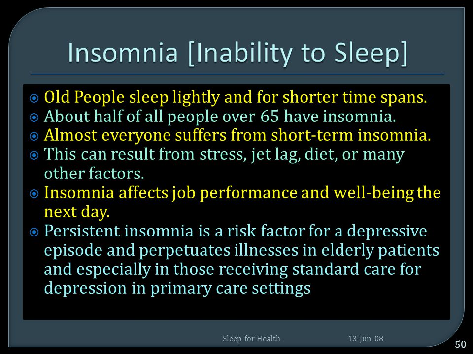  At least 40 million Americans each year suffer from chronic sleep disorders each year, and 20 million experience occasional sleeping problems.  The