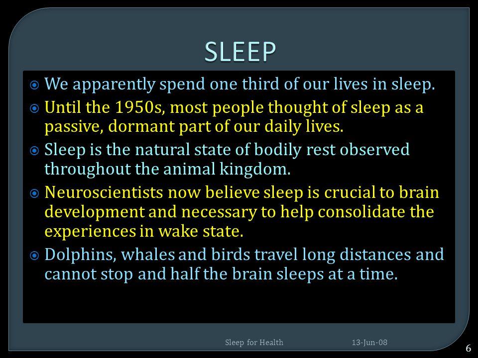 13-Jun-08 76 Sleep for Health