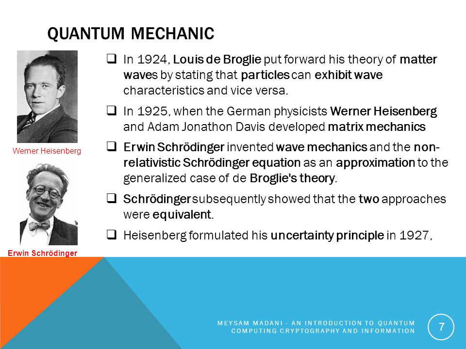 QUANTUM MECHANIC  Paul Dirac began the process of unifying quantum mechanics with special relativity by proposing the Dirac equation for the electron.