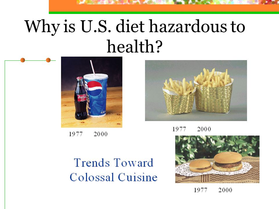 Why is U.S. diet hazardous to health?