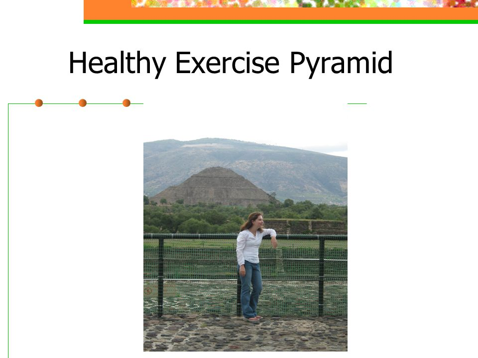 Healthy Exercise Pyramid