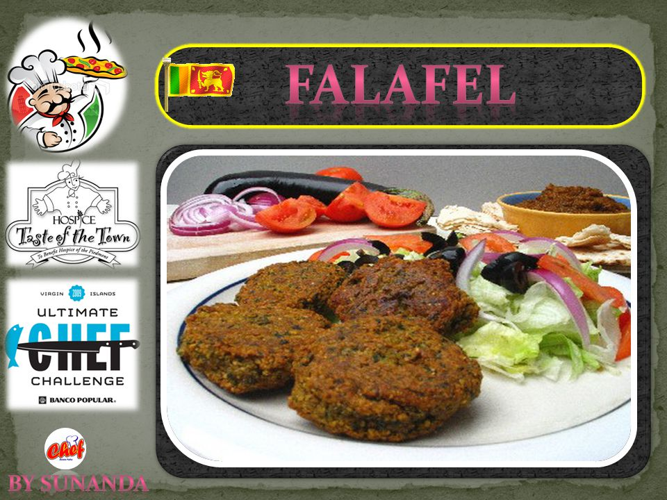 If you're like I was and have never had falafel, they're actually pretty simple: a ball/patty of coarsely ground, dried chickpeas with a mix of herbs, vegetables, and spices, all mixed and deep-fried to form a crisp, richly browned nugget with a tender, deliciously mealy interior.