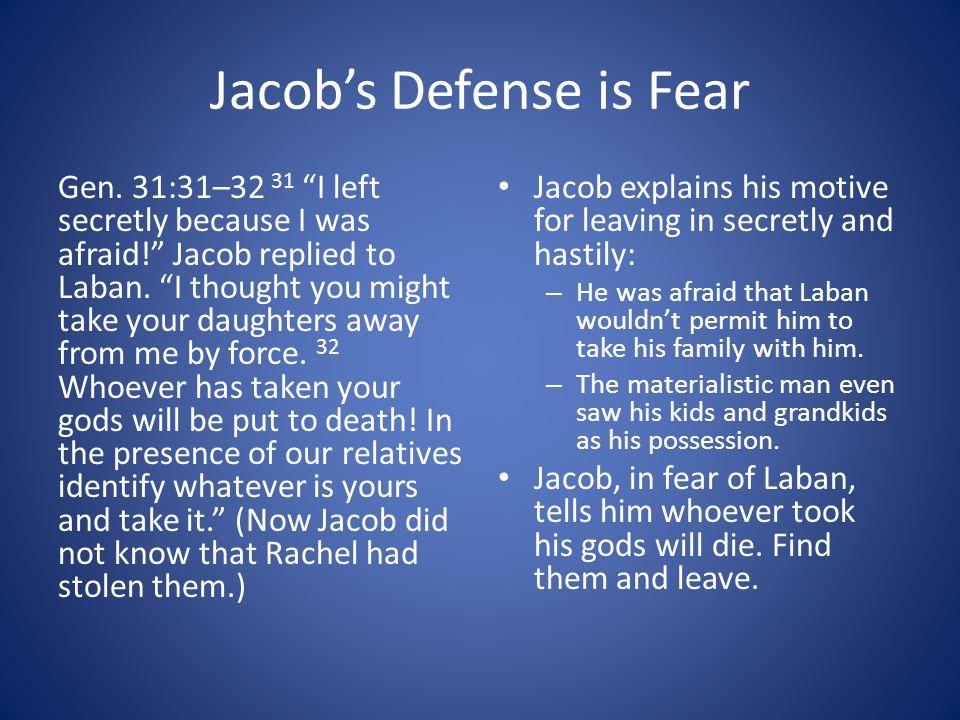 Jacob's Defense is Fear Gen.