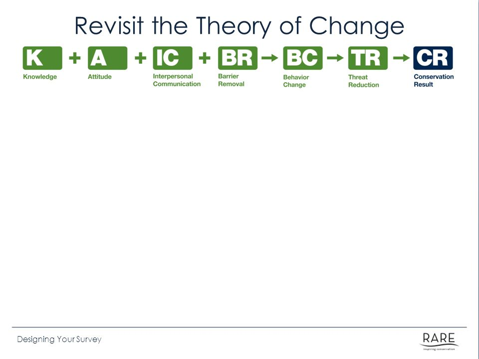 Designing Your Survey Revisit the Theory of Change