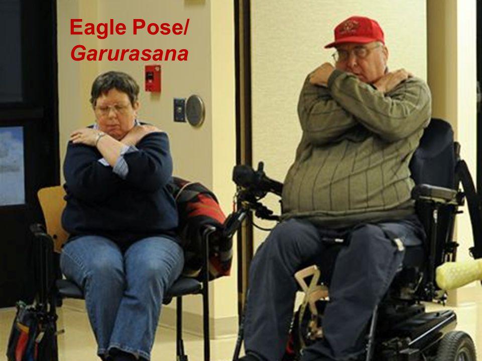 Adaptive Yoga Eagle Pose/ Garurasana