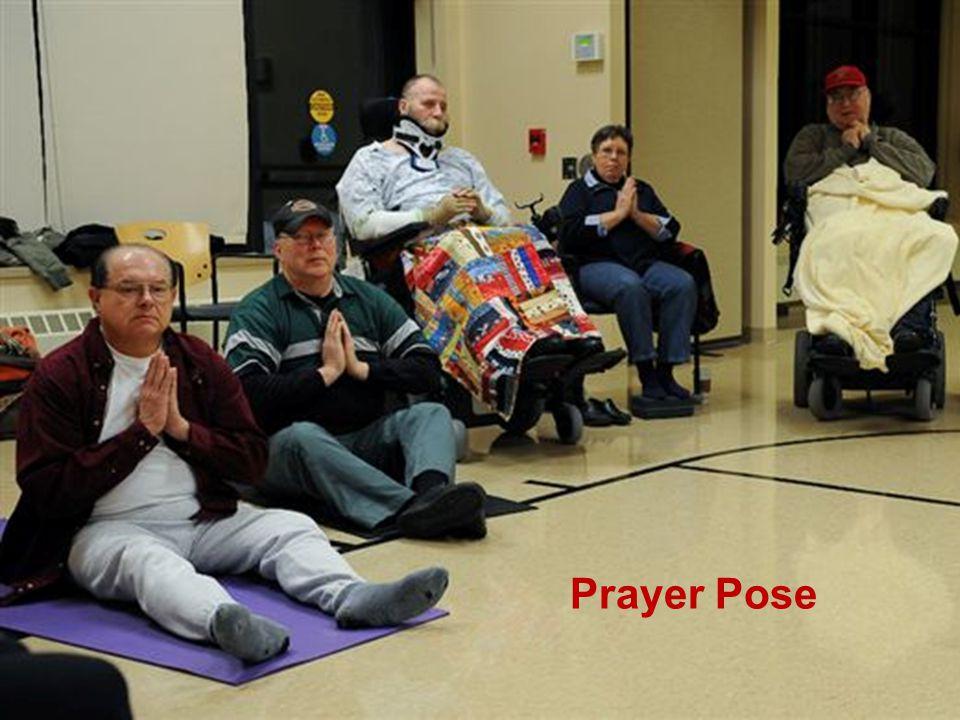 Adaptive Yoga Prayer Pose