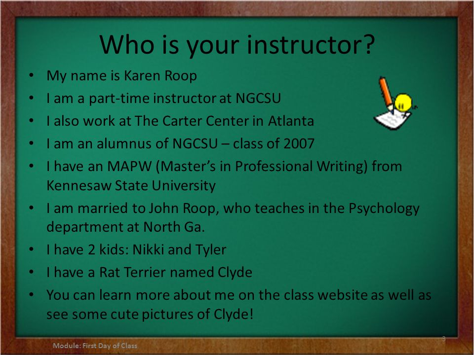 Who is your instructor.
