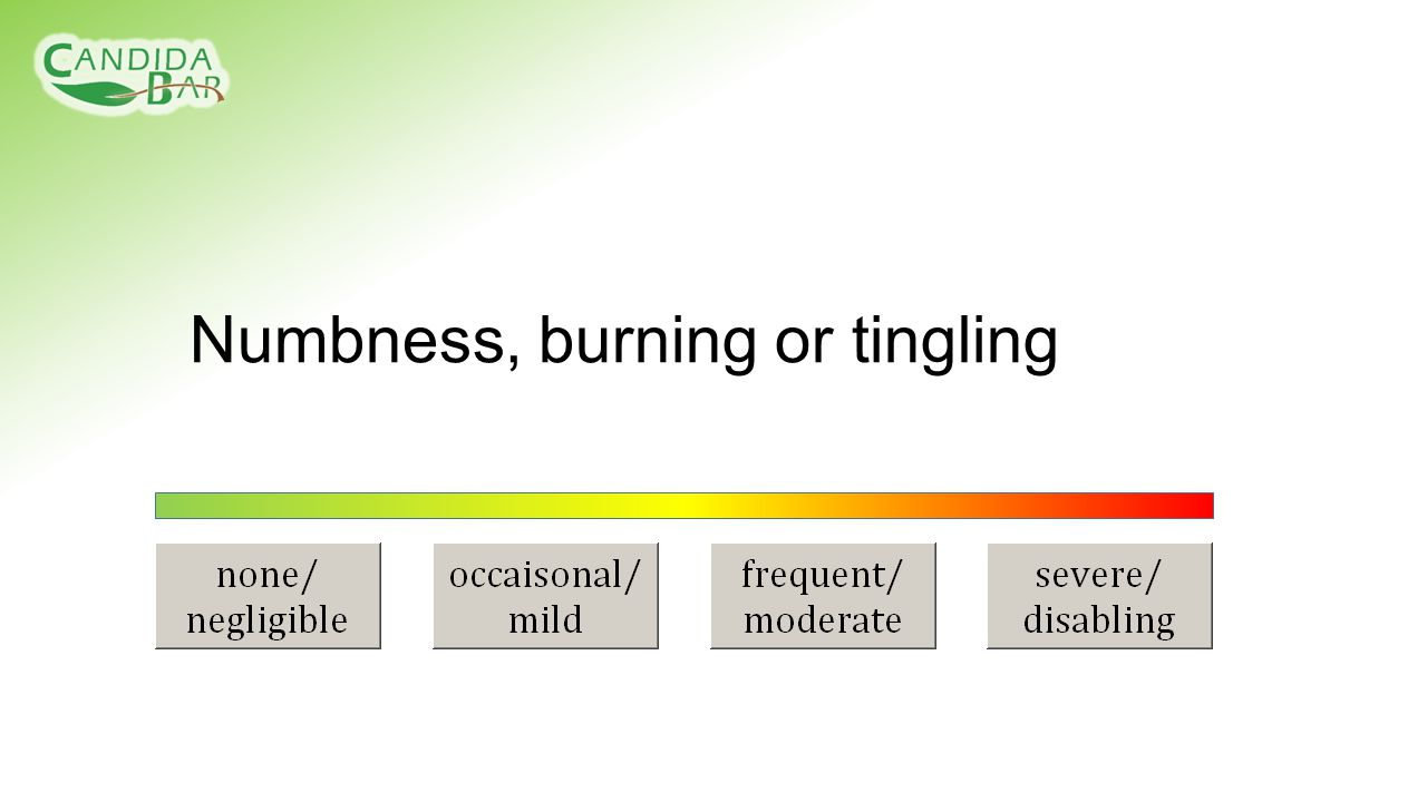 Numbness, burning or tingling