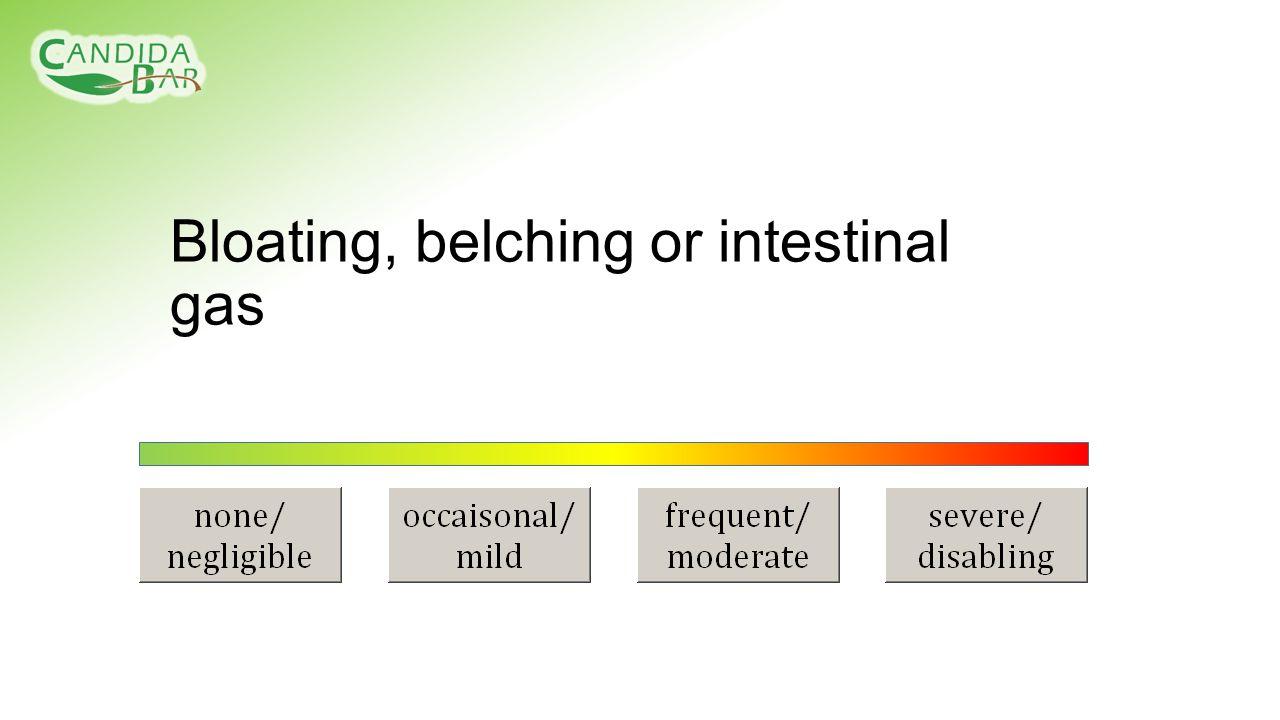 Bloating, belching or intestinal gas