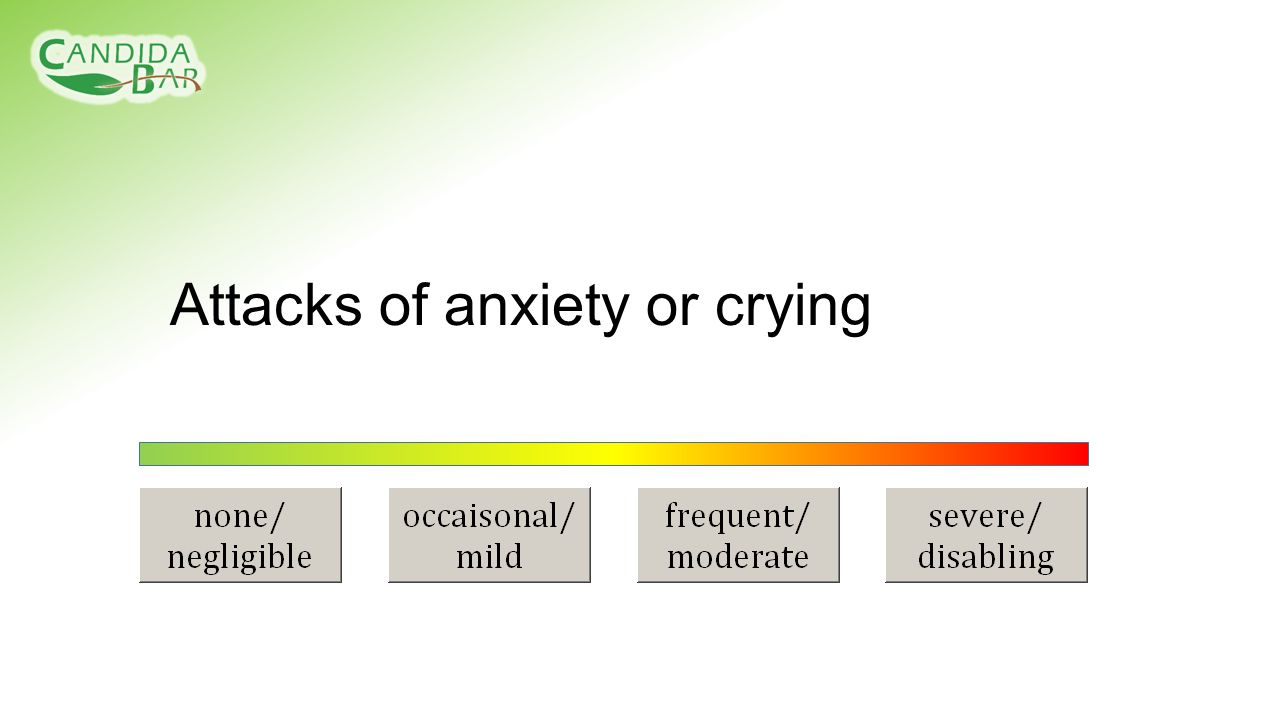 Attacks of anxiety or crying