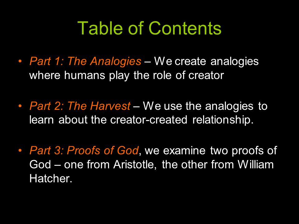 Power of the Creator (cont'd) What do we mean by All-Powerful.