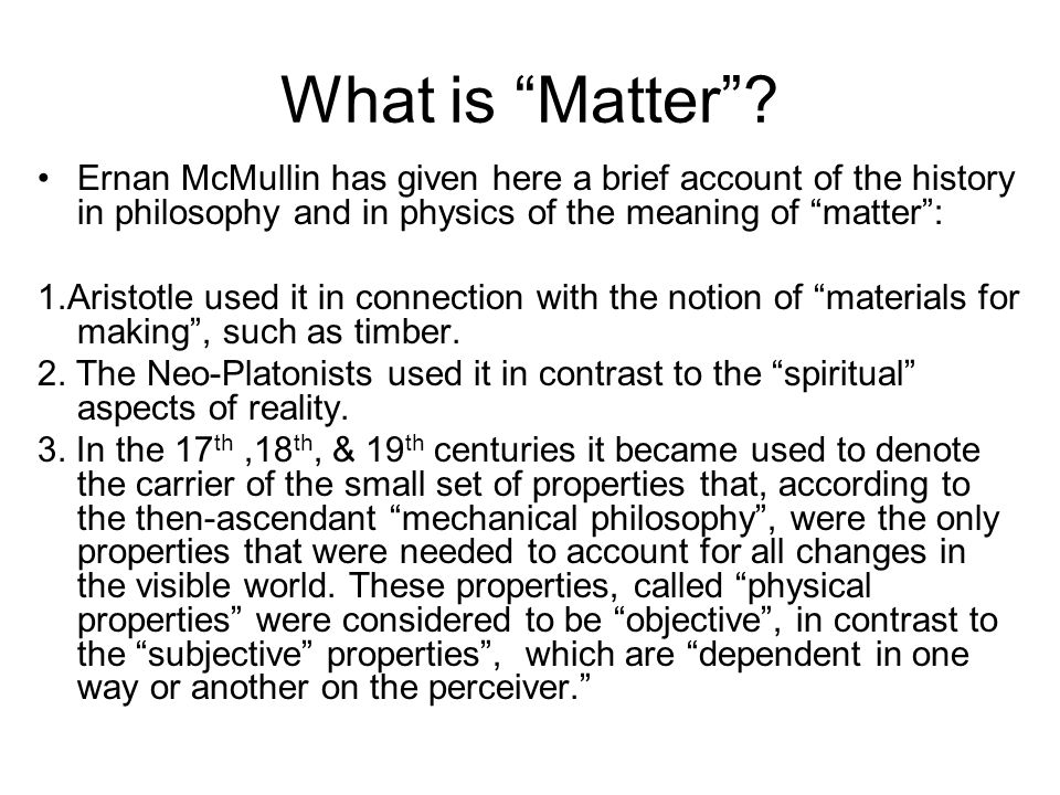 What is Matter .