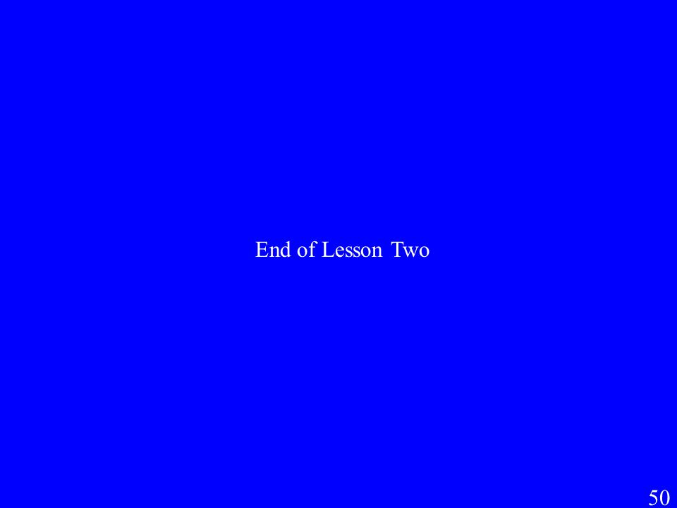 50 End of Lesson Two