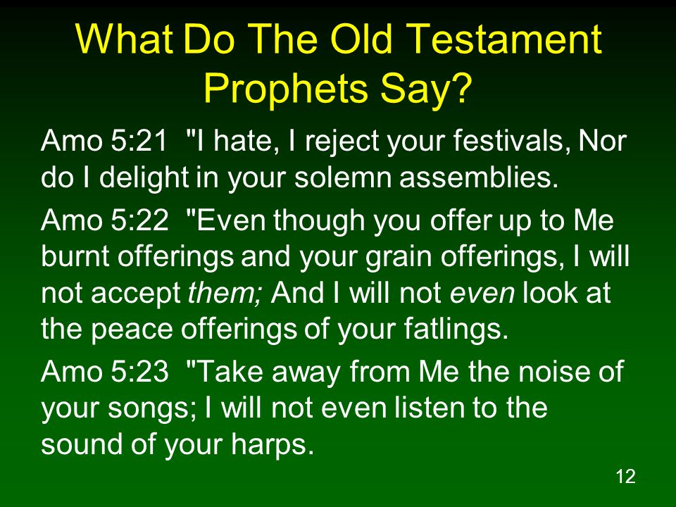 12 What Do The Old Testament Prophets Say.
